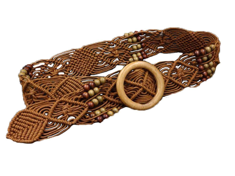 Cinlan Women's Bohemian Style Rope Braid Waist Belt (Style3)