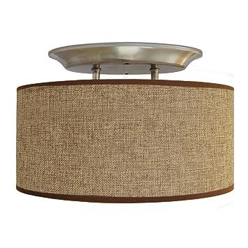 dream lighting led 12v fabric light fixturesvintage dining lightsvehicle decorative lamp with brown fabric lighting