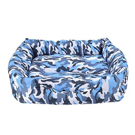 HNBGY Agraciado Cama para Perros Cat Cave Lounge con Cama extraíble Camas de Camuflaje para Mascotas