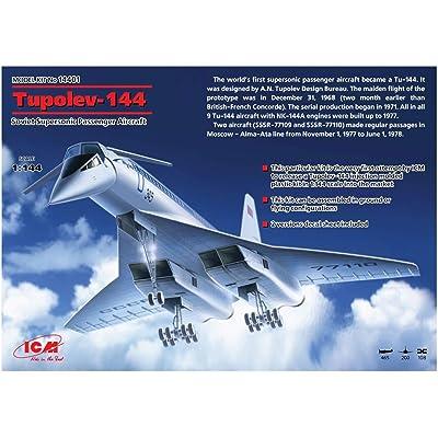 ICM Models Tupolev Tu-144 Building Kit: Toys & Games