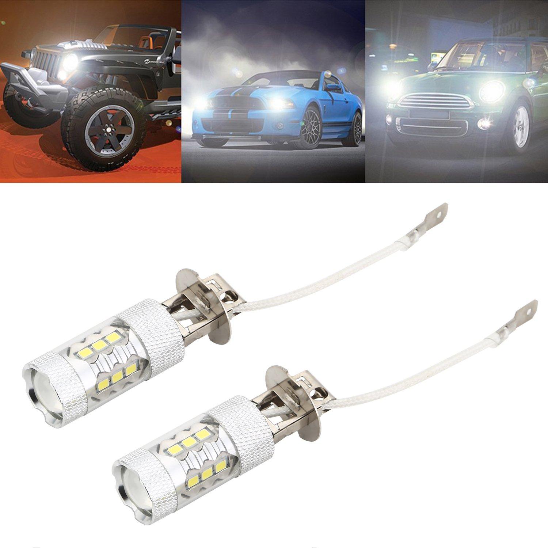 CICMOD 2x H11//H8 80W 1500 Lumens ampoules LED Feux de brouillard diurne lampe au x/énon blanc 6000K