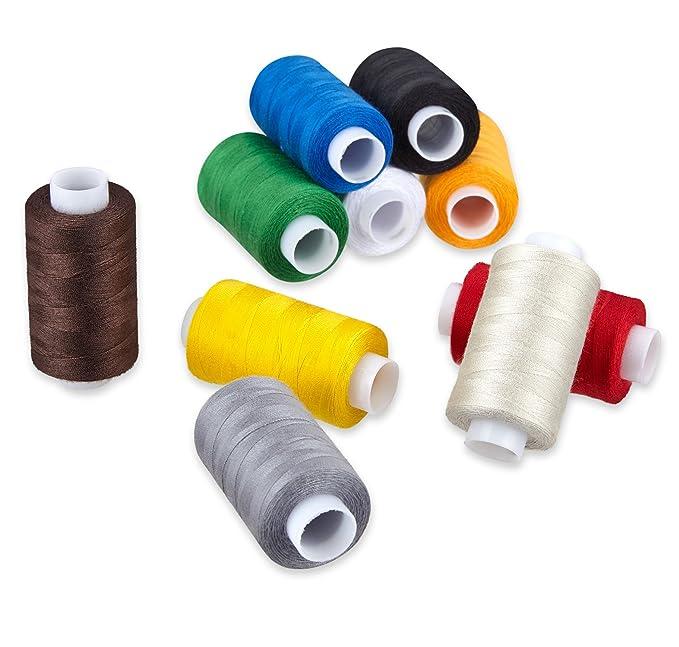 KAGEN Hilo de Coser 100% poliéster, Set de 10, Hilo de Coser/Hilo para máquina de Coser/Hilo para Costura: Amazon.es: Hogar