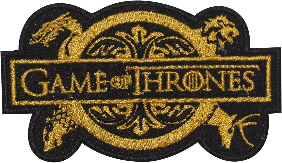 Parche bordado de Juego de Tronos para coser o planchar para ropa, camisas, vaqueros, etc.