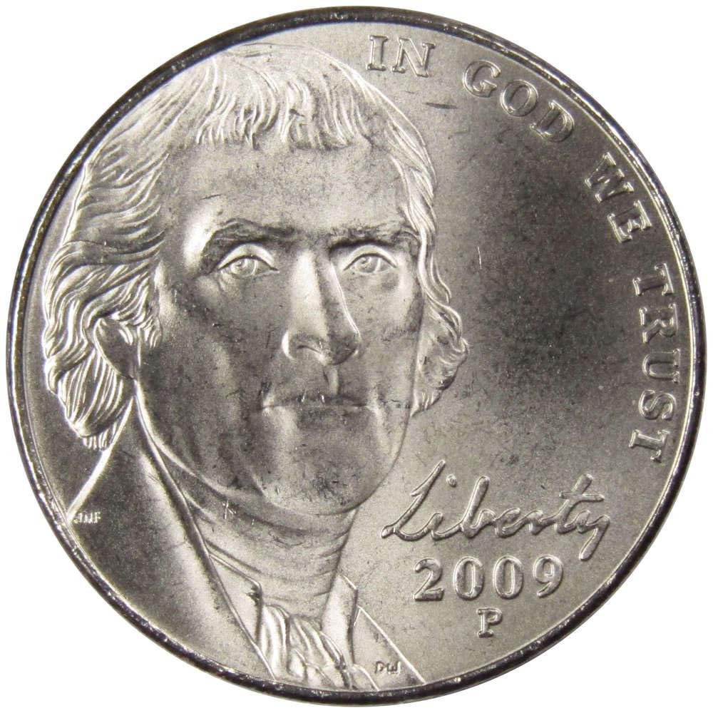 2009-P BU Jefferson Nickel Roll