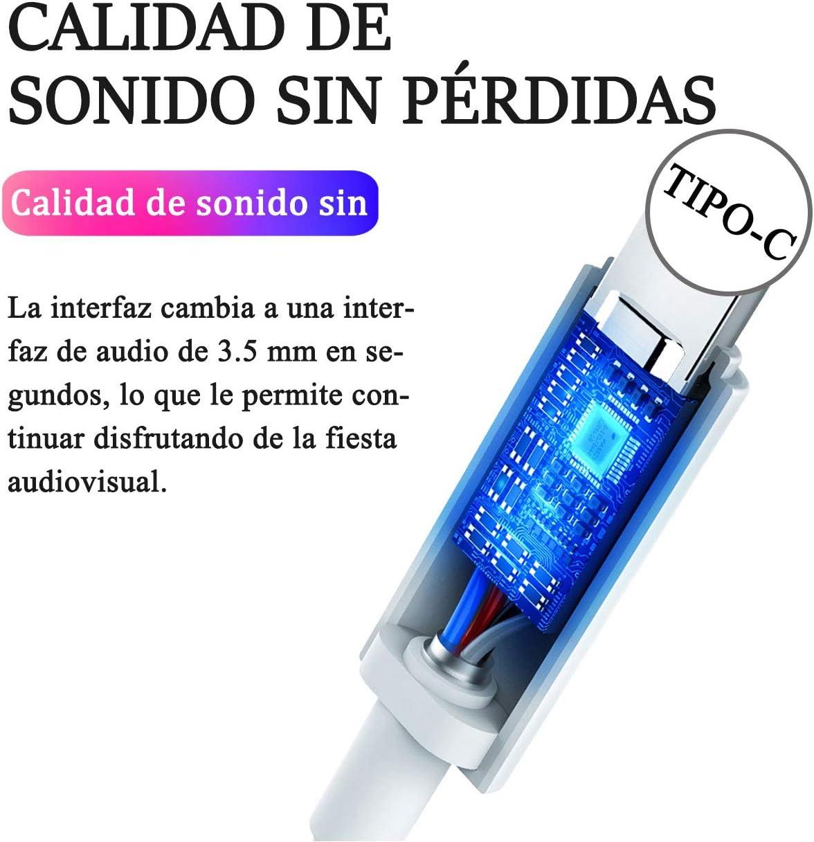 Mi 8//9 P20 Pro IMAXDR Tipo C a 3.5mm Adaptador de Auriculares Adaptador de Audio Adaptador USB C Adaptador USB Tipo C Adaptador Convertidor para OnePlus 7 Pro Huawei P20 P30 Pro