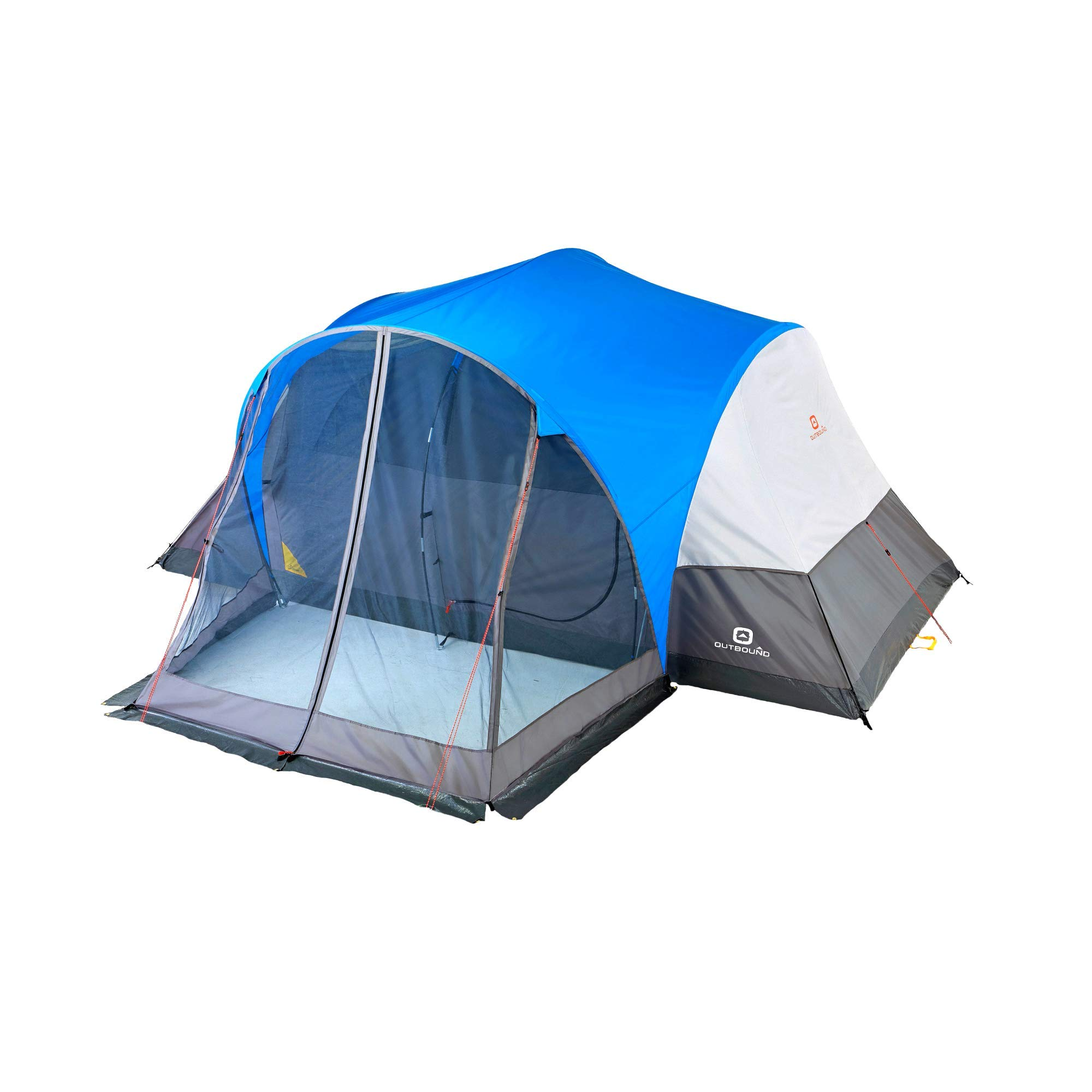 Outbound 8-Person Tent | Dome Tent for Camping with Screen Porch and Carry Bag| Perfect for Backpacking and The Beach | Blue by Outbound
