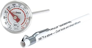 amazon com winco pocket test thermometer with 0 to 220 degree