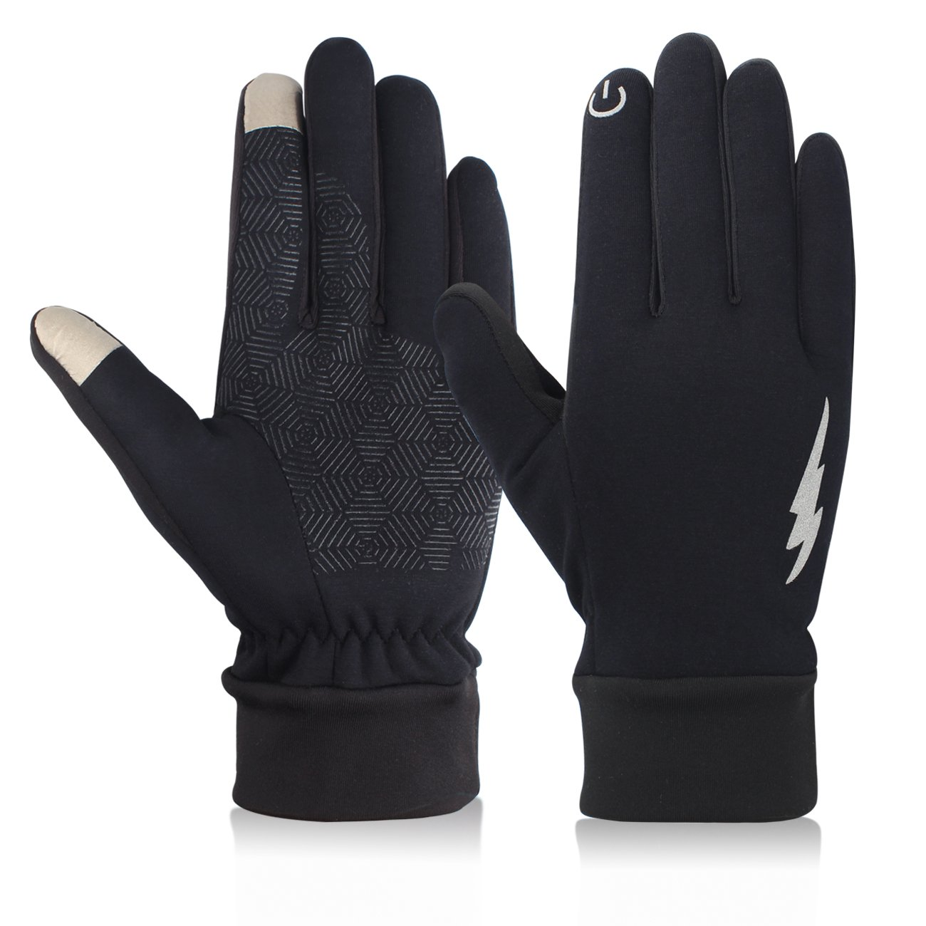 MCYS Winter Gloves - Touch Screen Gloves Warm Thermal Driving Running Cycling Gloves for Men Women (Black 1, XL)