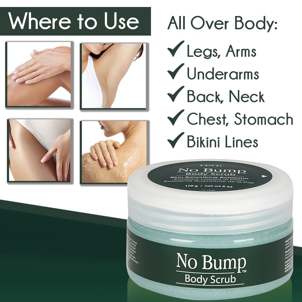 GiGi No Bump Body Scrub with Salicylic Acid for Ingrown Hair & Razor Burns, 6 oz by GiGi (Image #2)