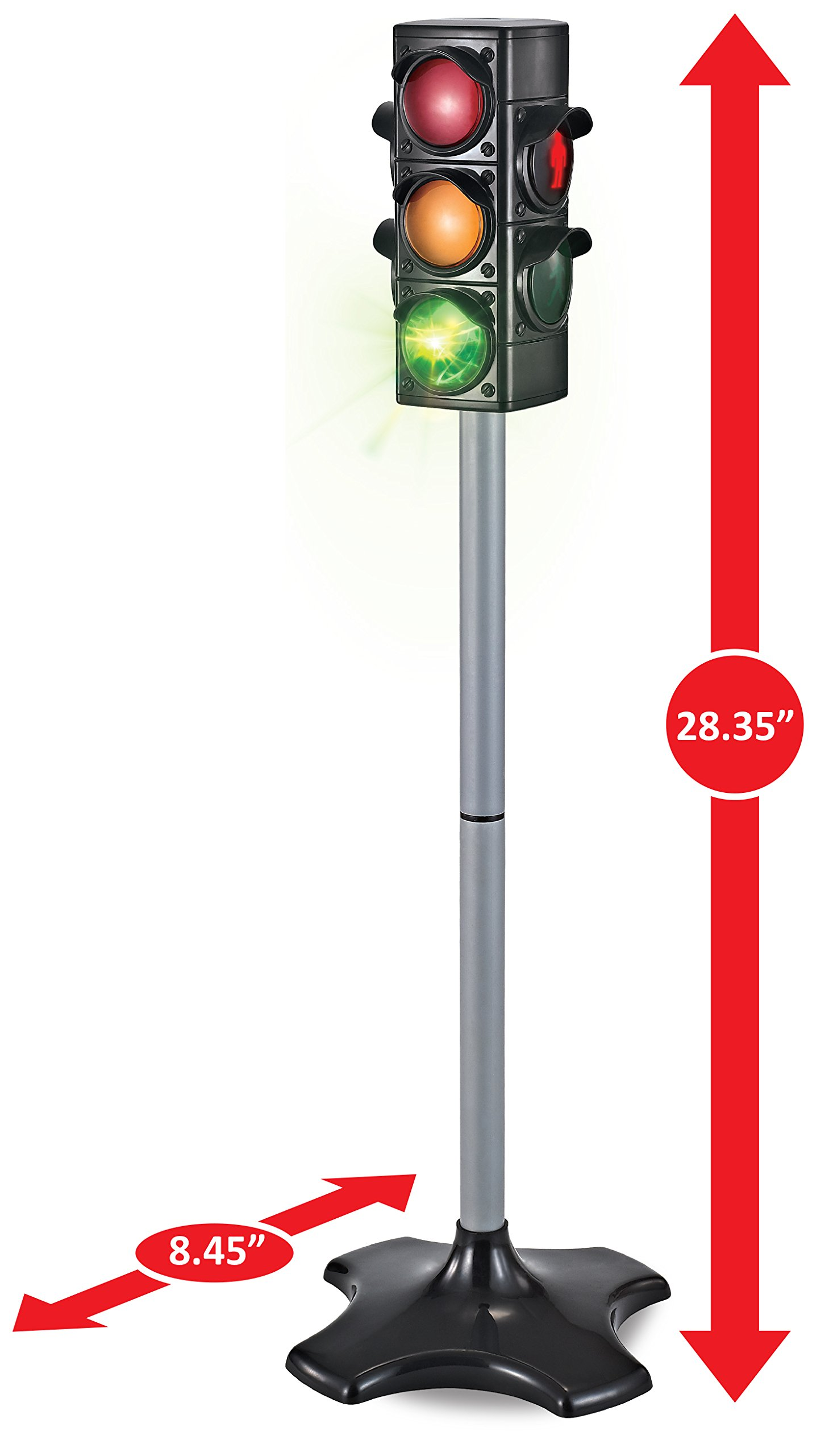 MMP Living Toy Traffic & Crosswalk Signal with Light & Sound - 4 Sided, Over 2 feet Tall by MMP Living (Image #3)