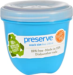 product image for Preserve Food Storage Container - Round - Mini - .Aqua - 8 oz - 1 Count - Case of 12