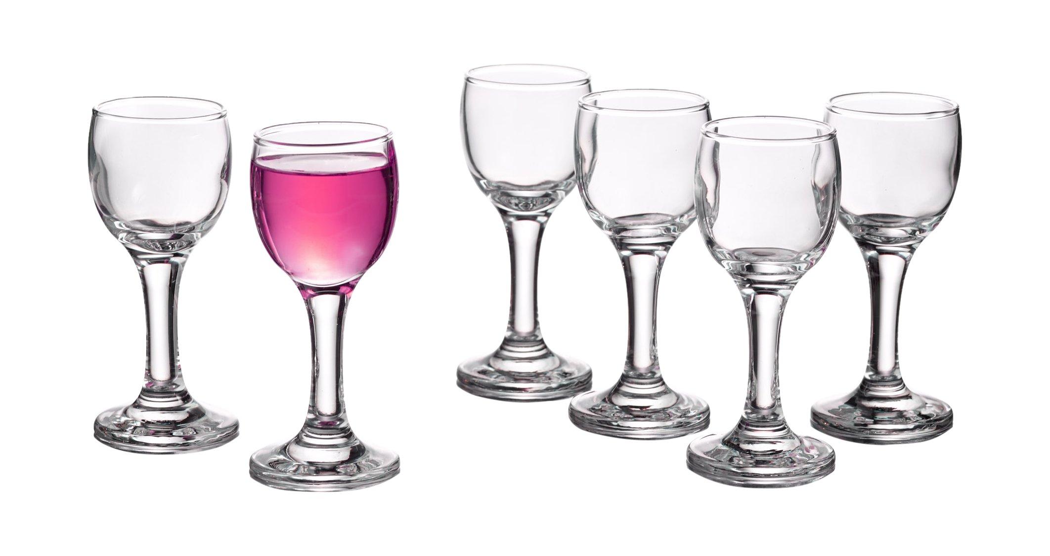 Style Setter Vino Shot Glasses (Set of 6), Clear
