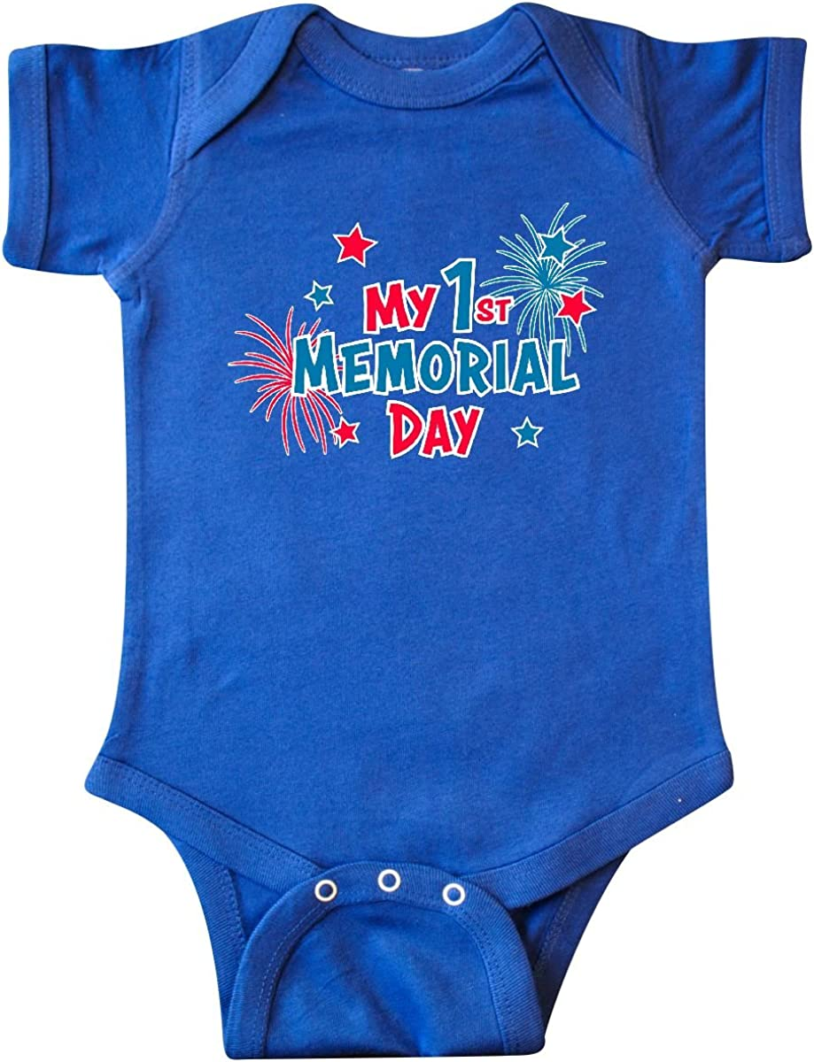 inktastic My First Memorial Day with Fireworks Long Sleeve Creeper