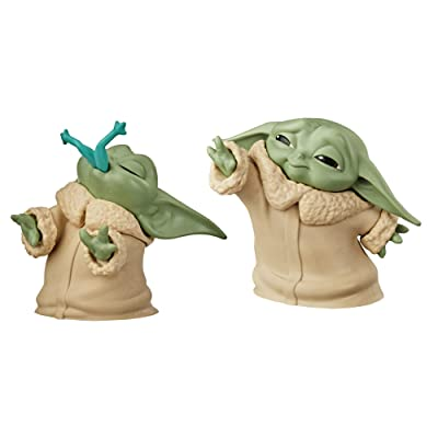 "Star Wars The Bounty Collection The Child Collectible Toys 2.2-Inch The Mandalorian ""Baby Yoda"" Froggy Snack, Force Moment Figure 2-Pack: Toys & Games"