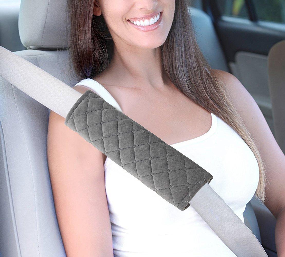 correas de hombro 4 almohadillas protectoras para cintur/ón de seguridad de coche Aoderda almohadillas de arn/és que ayudan a proteger tu cuello y hombro suaves c/ómodas para cintur/ón de seguridad