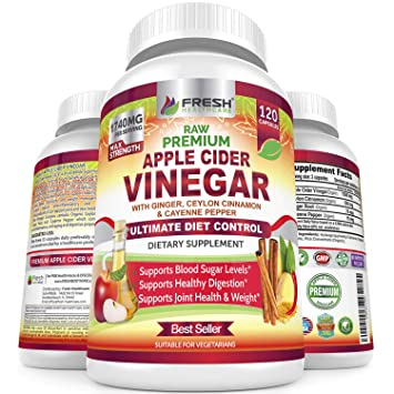 Organic Apple Cider Vinegar Pills Max 1740mg with Mother - 100% Natural &  Raw with Ceylon