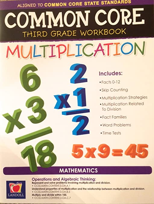 Amazon.com: Common Core Multiplication Third Grade Workbook: Toys ...