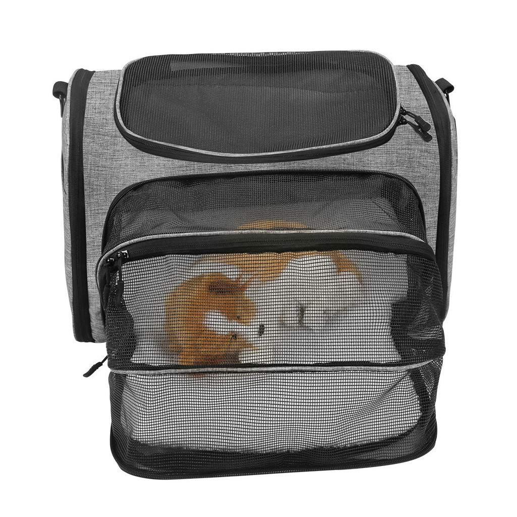 Fashion Expandable Airline Approved Soft Sided Pet Carrier for Medium Puppy and Cats, Premium Zippers & Safety Clasps,Easy Trips with Dogs and Cats