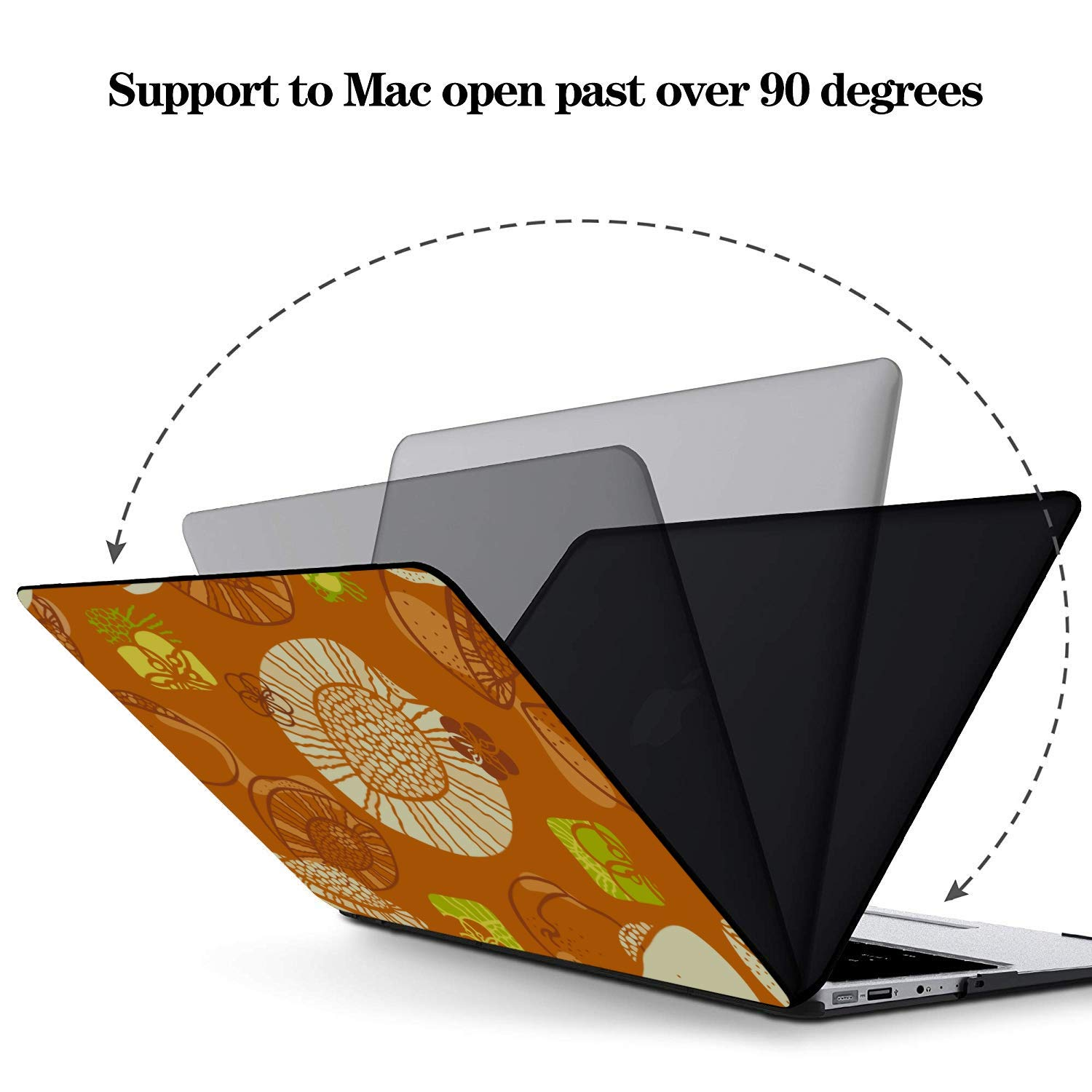 13 MacBook Case Summer Sweet Fruit Yellow Peach Canned Plastic Hard Shell Compatible Mac Air 11 Pro 13 15 MacBook Pro Computer Case Protection for MacBook 2016-2019 Version