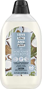 Love Home and Planet Ultra Concentrated Laundry Detergent, Coconut Water & Mimosa Flower, 23 oz, 66 Loads