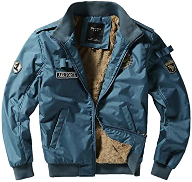 fashciaga Men s U.S. Air Force Bomber Flight Jacket at Amazon Men s ... 1a60939a95d