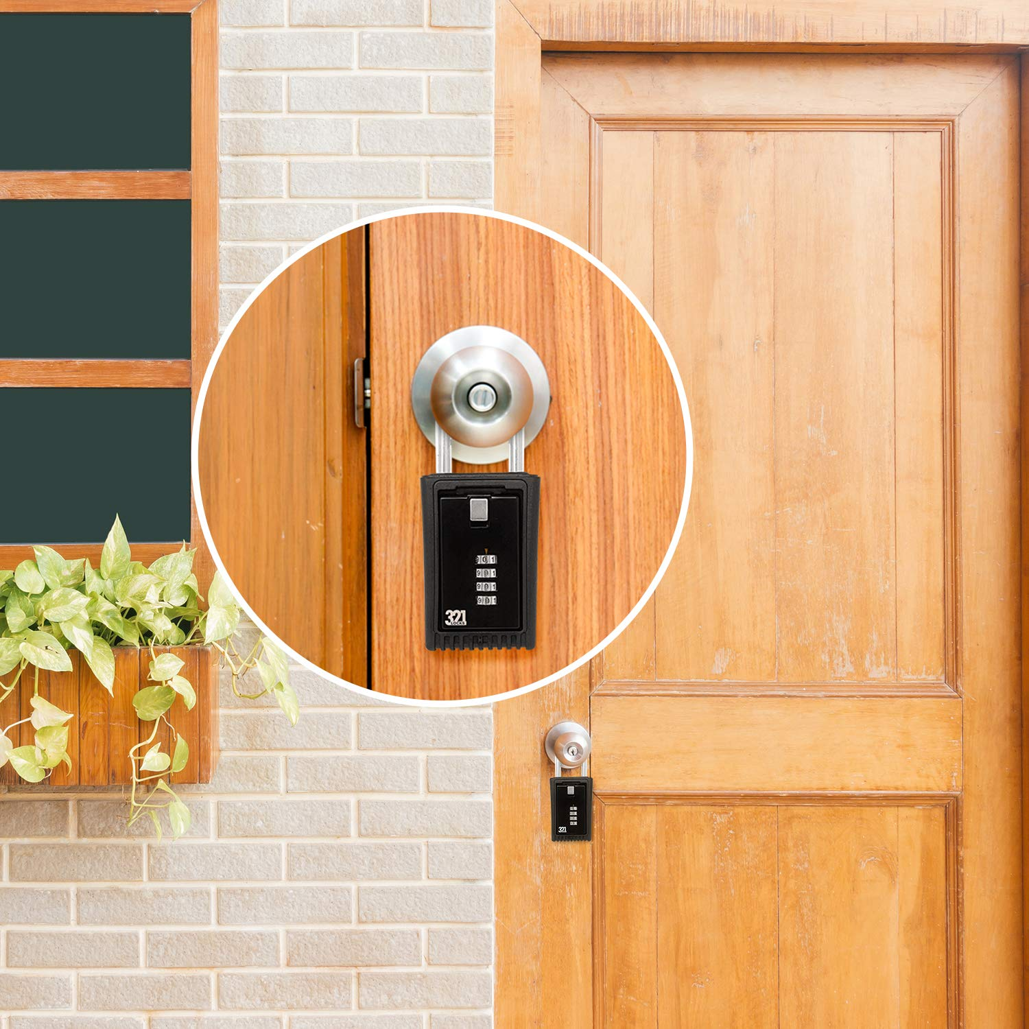 Spare Key Rental Hide a Key Outside for Your House Key Lock Box LB-003 5 Realtor 1 Pack Contractor Door Knob Mount Key Storage Lockbox Combination Shackle Fence Mount