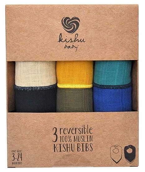 Amazon.com: Kishu bebé Bandana Drool baberos de 3-Pack Set ...