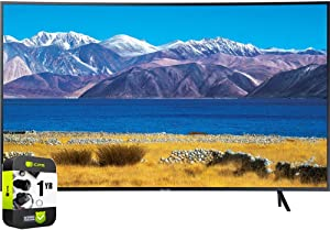 SAMSUNG UN55TU8300FXZA 55 inch HDR 4K UHD Smart Curved TV 2020 Model Bundle with 1 Year Extended Protection Plan