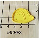 Construction worker safety Hard Hat Shaped Cookie Cutter and Stamp #1236