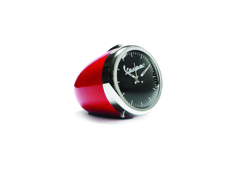 rouge /Ø 70/mm Horloge de table avec r/éveil forme phare Vespa Vintage Look