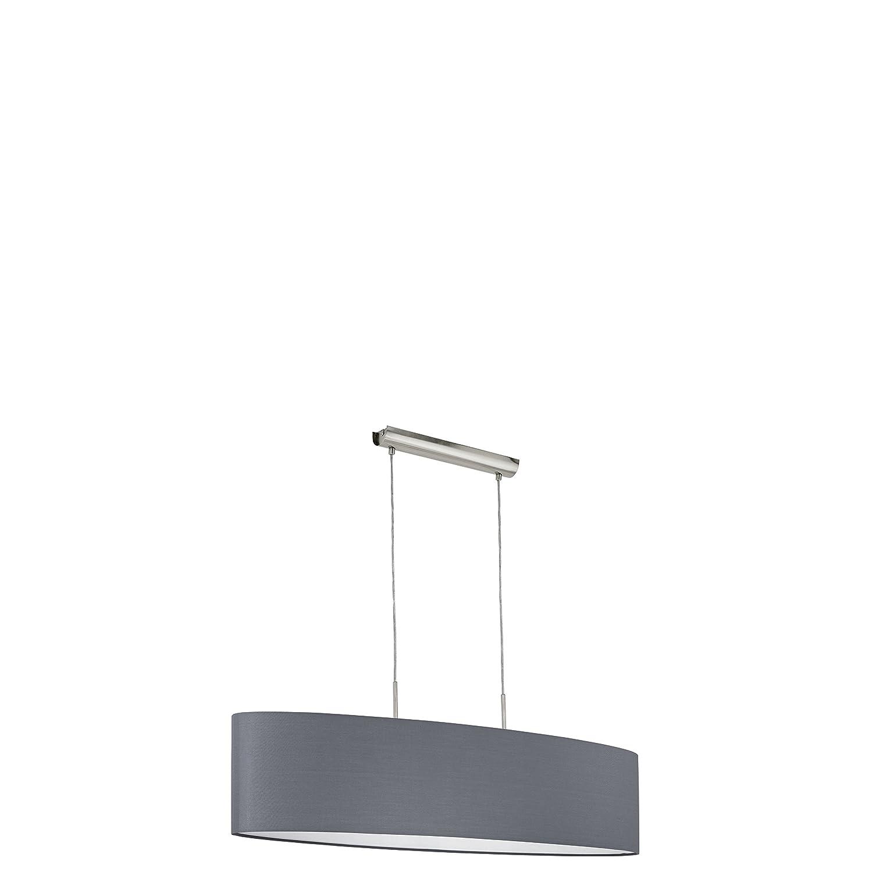 EGLO 31586 A++ to E, Hängeleuchte, Stahl, E27, Nickel-matt Grau, 100 x 28 x 110 cm