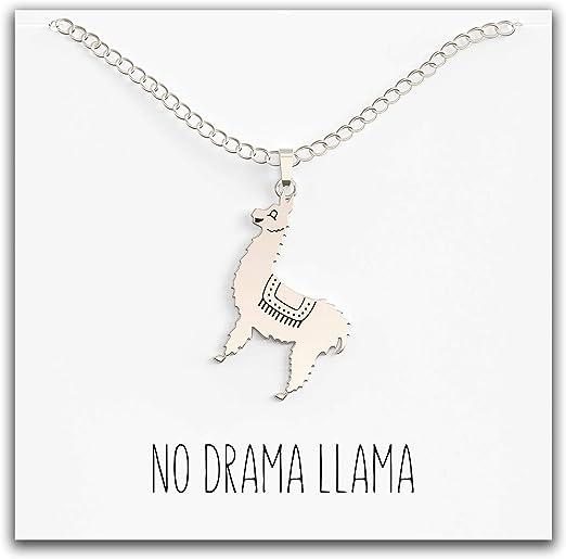 Llama Necklace \u2022 Animal Lover Llama Custom Name Necklace \u2022 Llama Jewelry Personalized Name Gift \u2022 Llama Gift Pet Llama Funny \u2022 Farm Animal