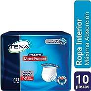 TENA Pants Maxi Protect; Ropa Interior Desechable para Incontinencia, Talla CH/M; TENA; 10 Piezas