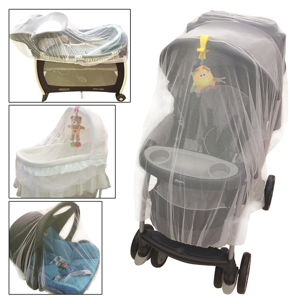 Crocnfrog Mosquito, insect Net, Netting for Strollers, Carriers, Cradles, Car Seats. Designed For Cribs, Bassinets, Most Pack'n'Plays & Playpens. Made of White Durable Insect Netting 646437354721
