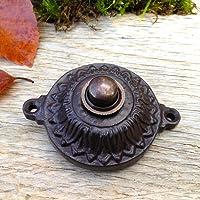 antikas–siècle réversible élégant comme Antique, bouton de sonnette filaire sonnette sonnette de porte ciselé