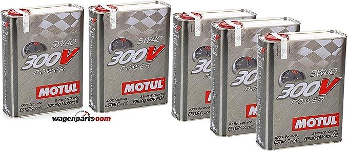 Motul Motor Oil Turnier 104242 300v Power 5w 40 Pack 10 Liter Metallic Auto