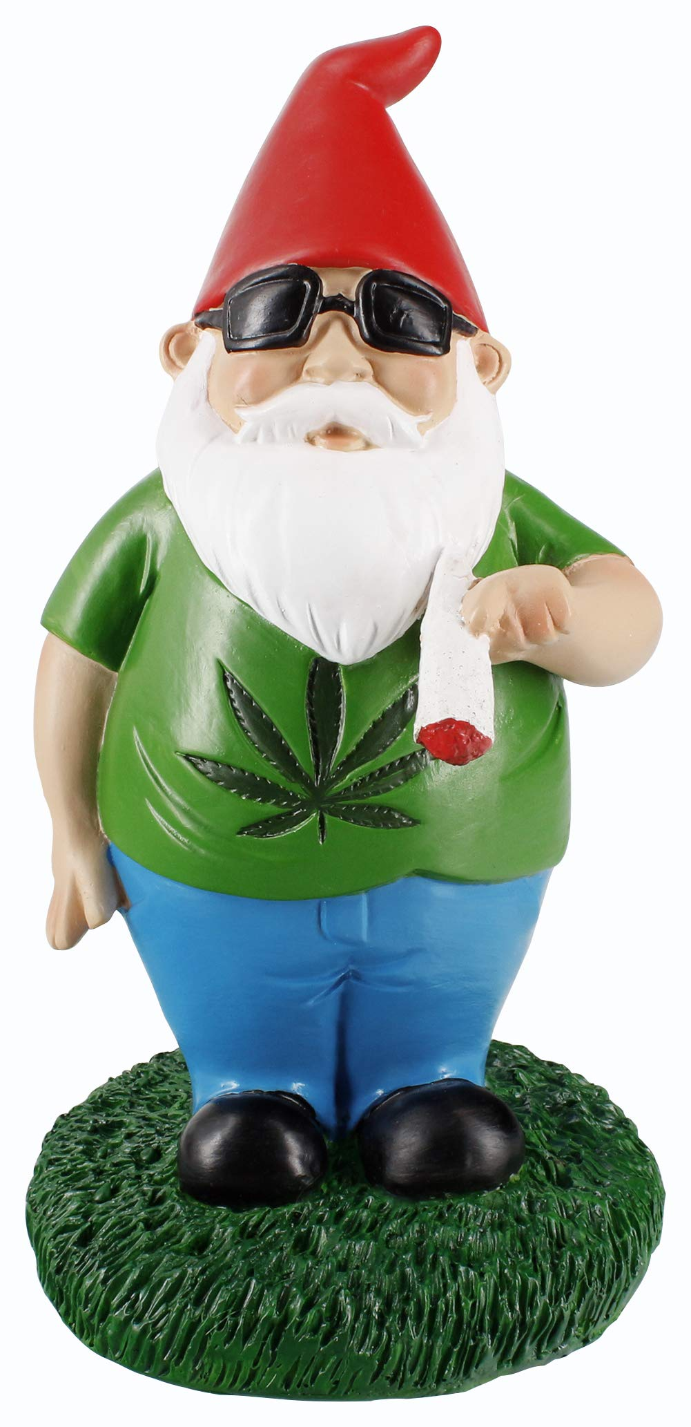 Gnometastic Smoking Gnome Indoor Outdoor Garden Gnome Statue, 8.5'' inches