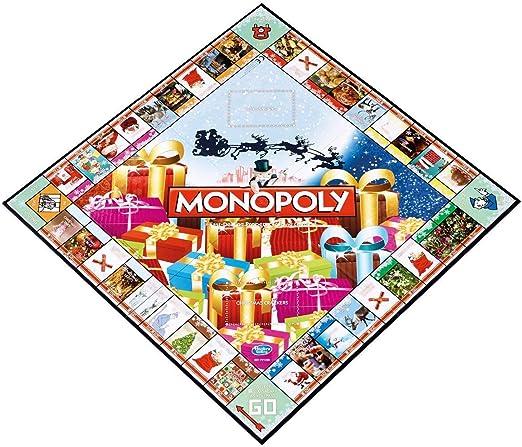Noël Navidad Monopoly de edición Limitada de – la Saison Des Fiestas commence Ici con CE Juego de Tablero Lieblingszeit de se la Familia.: Amazon.es: Hogar