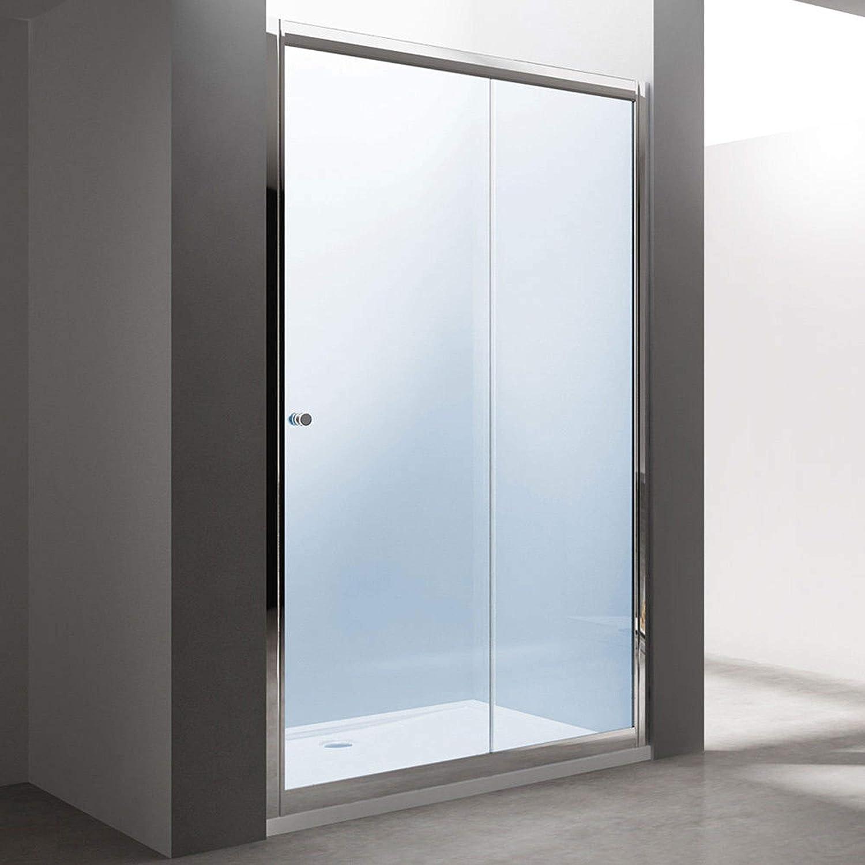 BH: 110 x 190 nichos Puerta técnicos Puerta Corredera teramo12, con puerta corredera, de cristal de seguridad monocapa Cristal Transparente, con nano-revestimiento: Amazon.es: Bricolaje y herramientas