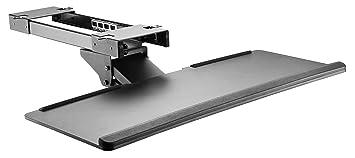 RICOO Soporte de Teclado para PC con Juego de Diapositivas CZ0200 Soporte de Escritorio Montaje Debajo