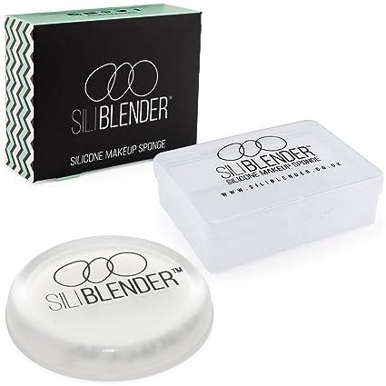 SILIBLENDER – Esponja de maquillaje de silicona profesionales con estuche- Núcleo de silicona 100% real – Aplique el maquillaje de forma fácil - ...