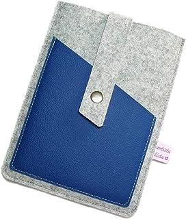 eBook Reader eReader Hülle Wollfilz Filz Leder Farbwahl, Maßanfertigung, z. B. für Tolino Vision 4HD