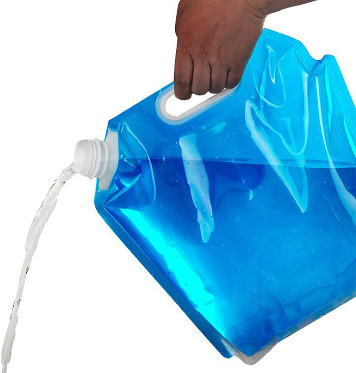 QWEQWE Collapsible Water Container Bag, Freezable, Plastic Water Carrier Tank, Outdoor Folding Water Bag for Sport Camping Riding Mountaineer Backoacking, Food Grade,Water Storage containers,2Pack