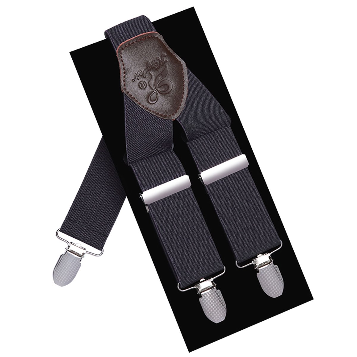Men Suspneders Y Back KANGDAI 3 Clips Wide Straight Strap Suspenders for Tuxedo & Wedding