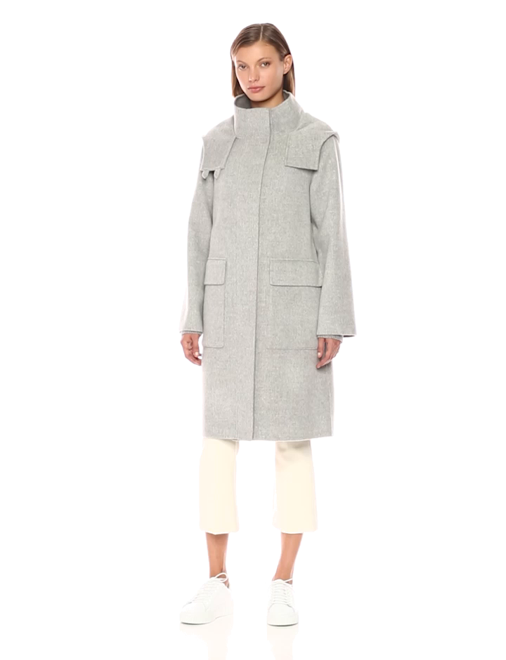 2b4cef3d5de Amazon.com: Theory Women's Duffle Coat Df Outerwear: Clothing
