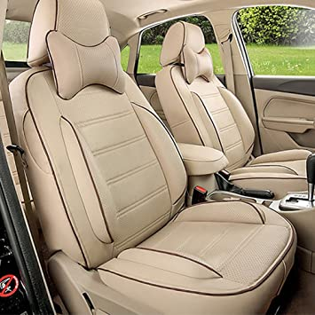 MERCEDES 190 Full Set Leather Look Seat Cover Set Front Rear