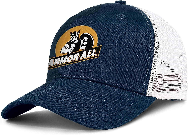 Armor All 01 Logo Mens Womens Mesh Back Trucker Caps Vintage Mesh Cap