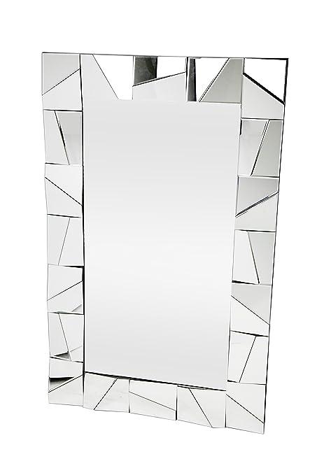 Dugar Home - Espejo, Plata, 120 x 77 x 3,3 cm