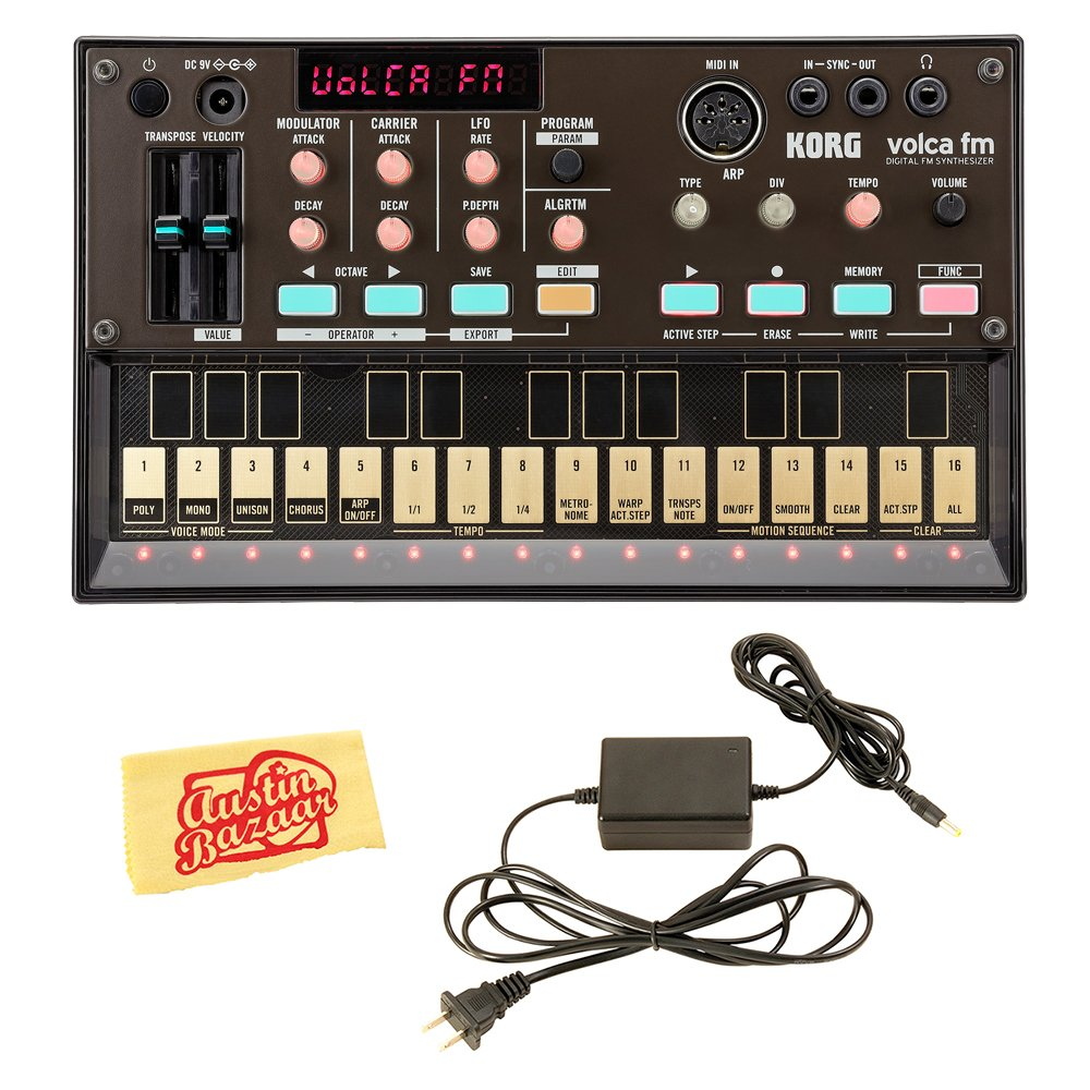 Korg Volca FM Digital Synthesizer Bundle with Power Supply and Austin Bazaar Polishing Cloth by Korg
