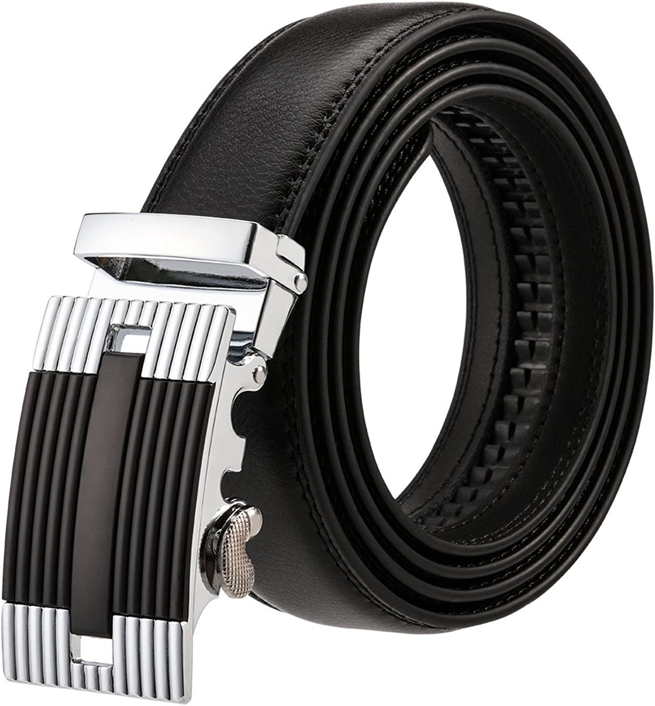 OnIn?Fashion?Leather Belt Men NEW Luxury Genuine Leather Designer Brand Waist Strap Automatic Buckle Male Belts for Men